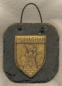 Monaghan County crest slate wall plaque